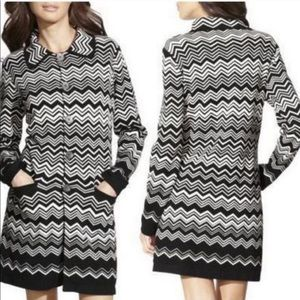 Missoni for Target black and white chevron jacket